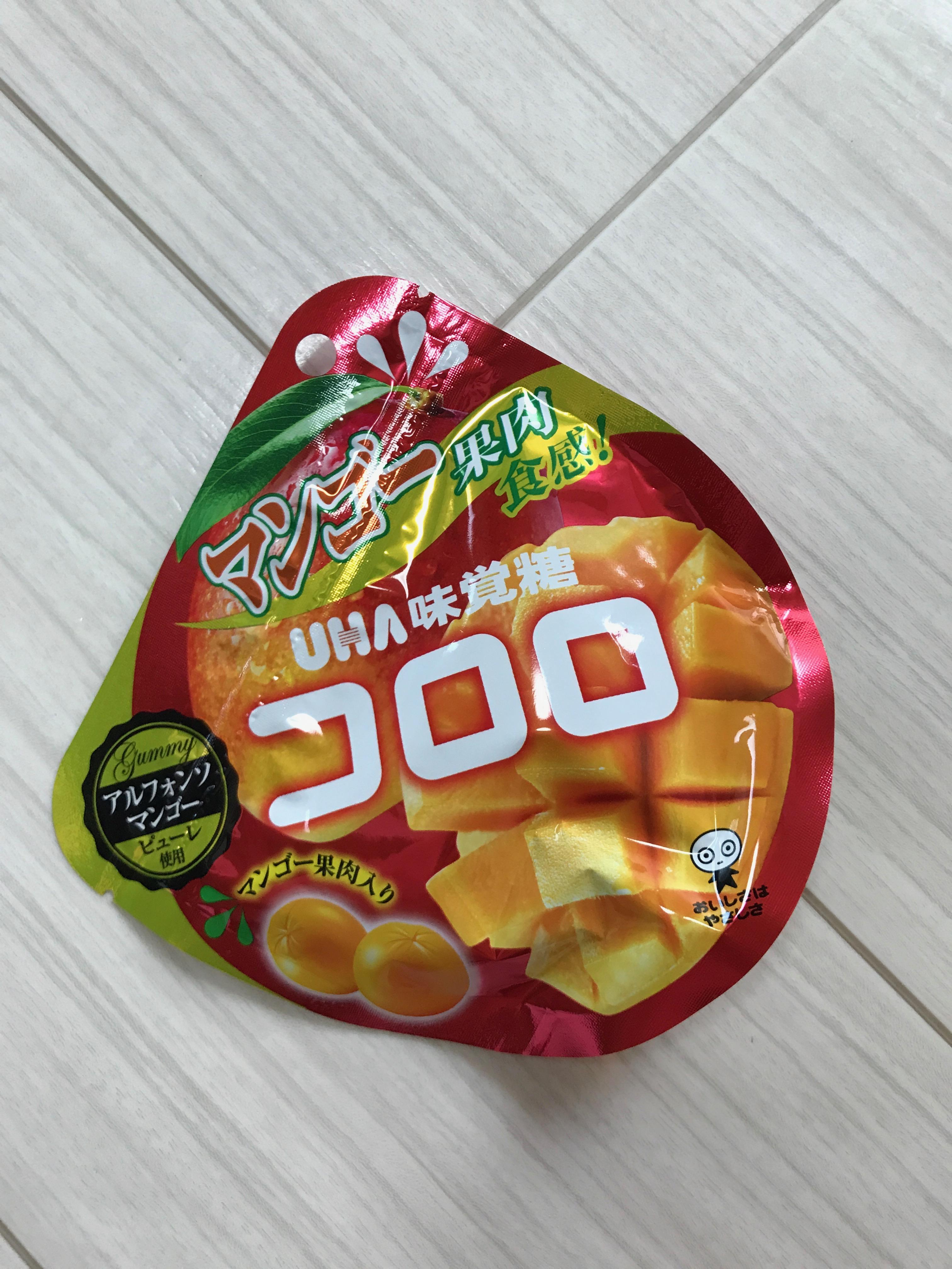 UHA味覚糖グミ「コロロ」の季節限定マンゴー味の感想レビュー