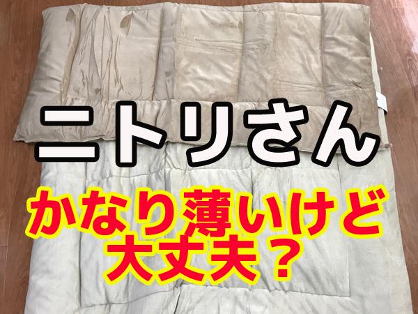ニトリの掛け布団は薄いけど寒い冬に耐えられるのか?レビュー
