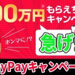 激アツ!ペイペイで100万円もらえるキャンペーンの詳細と感想